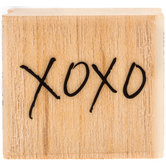 Hand Drawn XOXO Rubber Stamp